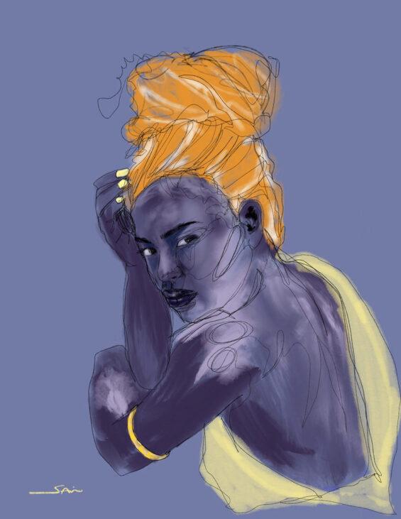 Digital drawing, portrait